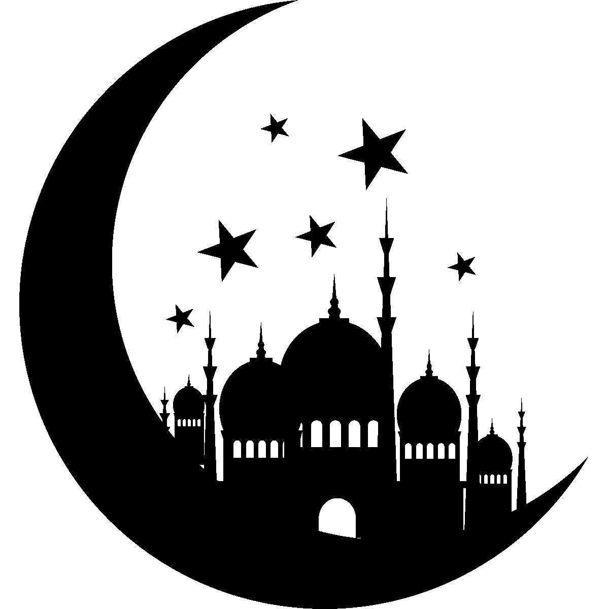 Sticker Oriental Monument sur la lune et les étoiles 1 – Stickers ...