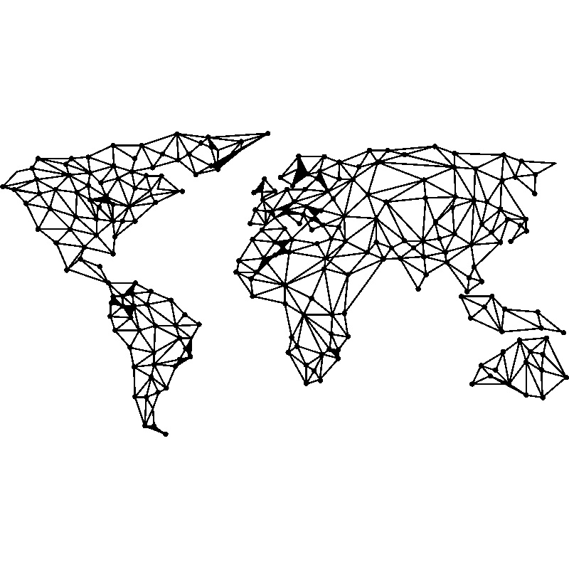 carte du monde art design Sticker origami carte du monde   Stickers STICKERS ART ET DESIGN