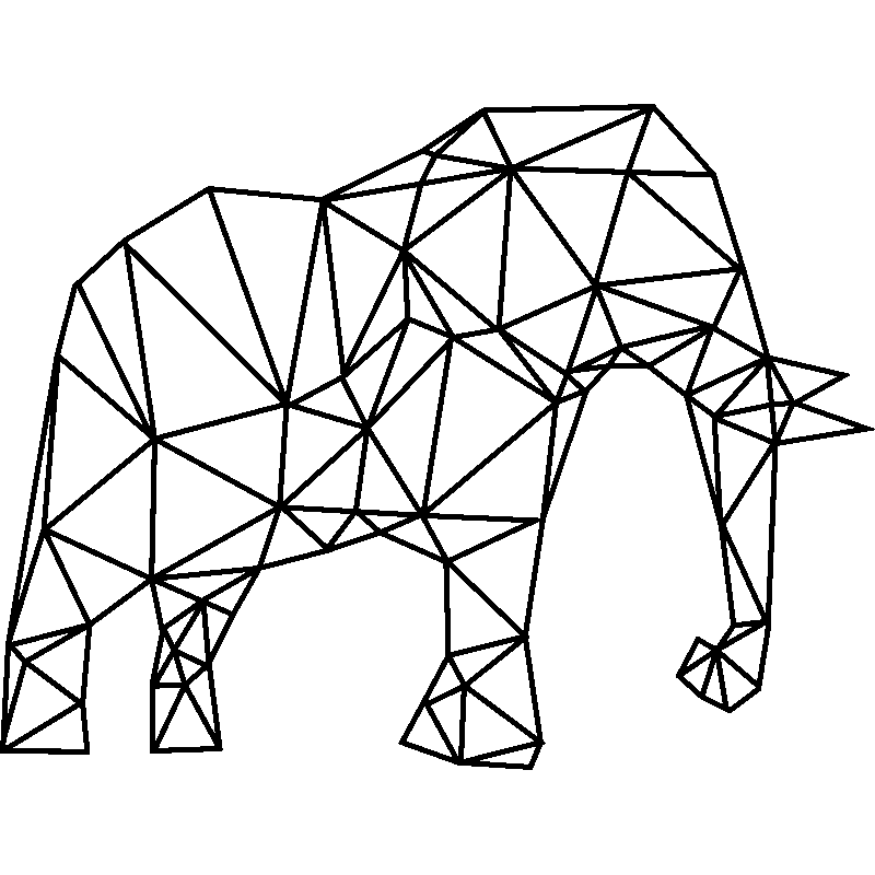 Sticker Origami Elephant D Afrique Stickers Animaux Animaux D