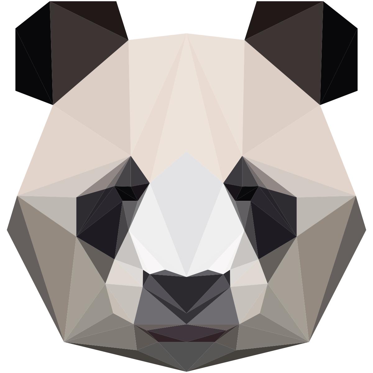 Sticker Origami Panda