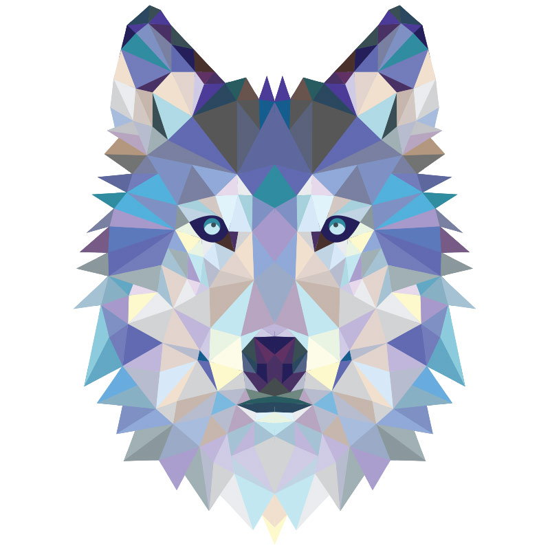 Hd Wallpapers 3d Art Tattoo Design: Sticker Origami Tête De Loup