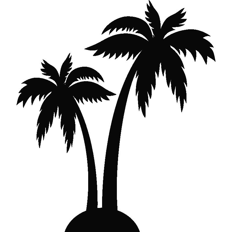 sticker palmiers stickers d co pays et villes ambiance. Black Bedroom Furniture Sets. Home Design Ideas