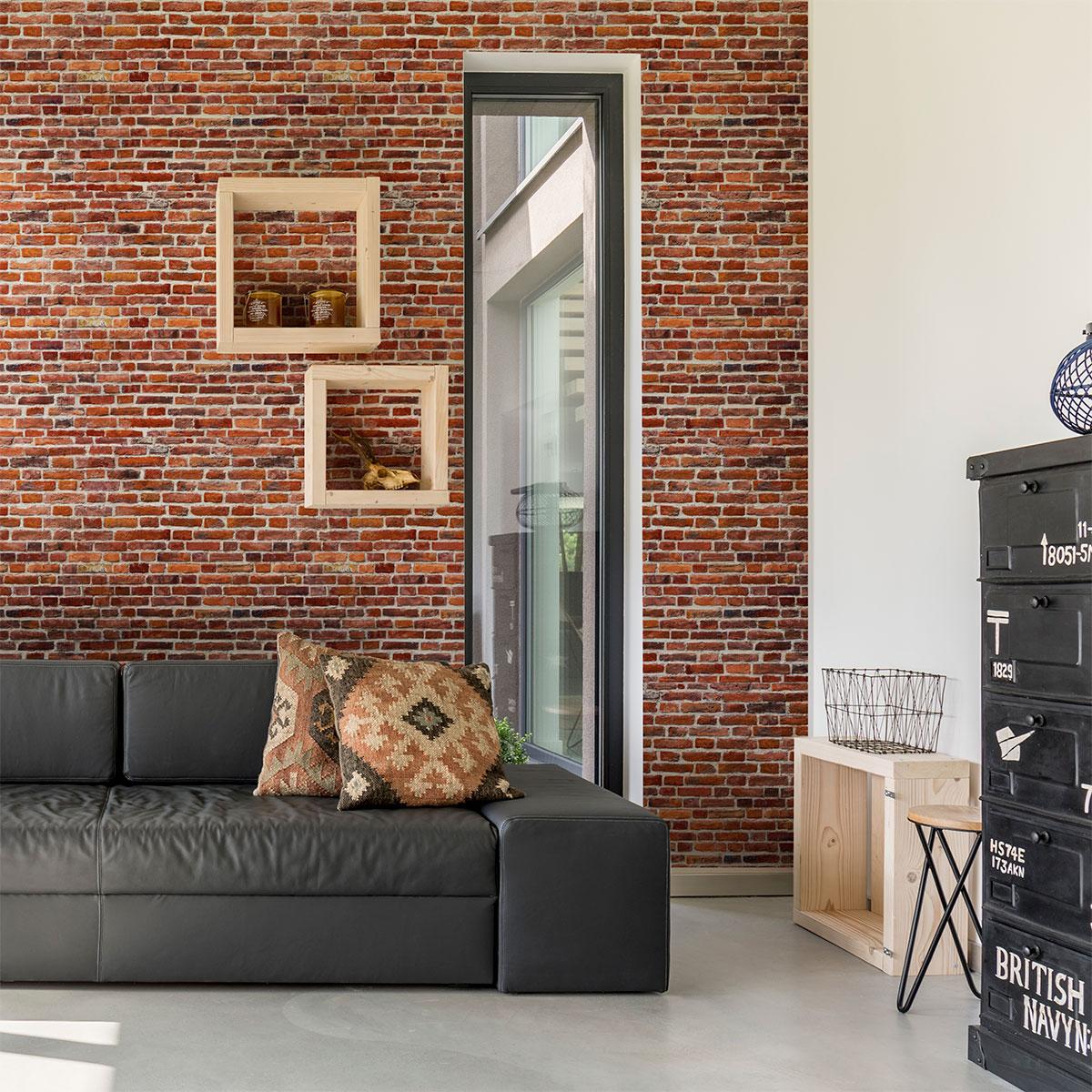 Chambre Ado Avec Papier Peint Brique sticker papier peint briques d'edimbourg