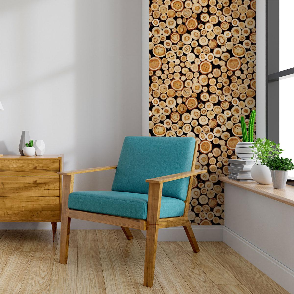 Papier Peint Trompe L Oeil Plafond sticker papier peint rondins de bois du canada