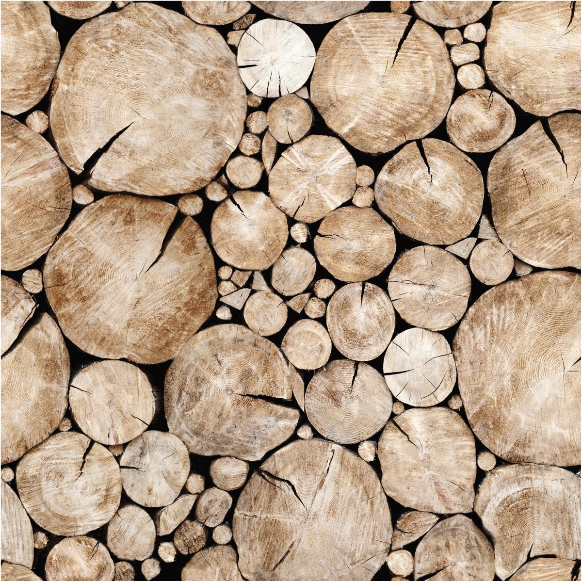Sticker papier peint rondins de bois du Kansas – STICKERS SALLE DE