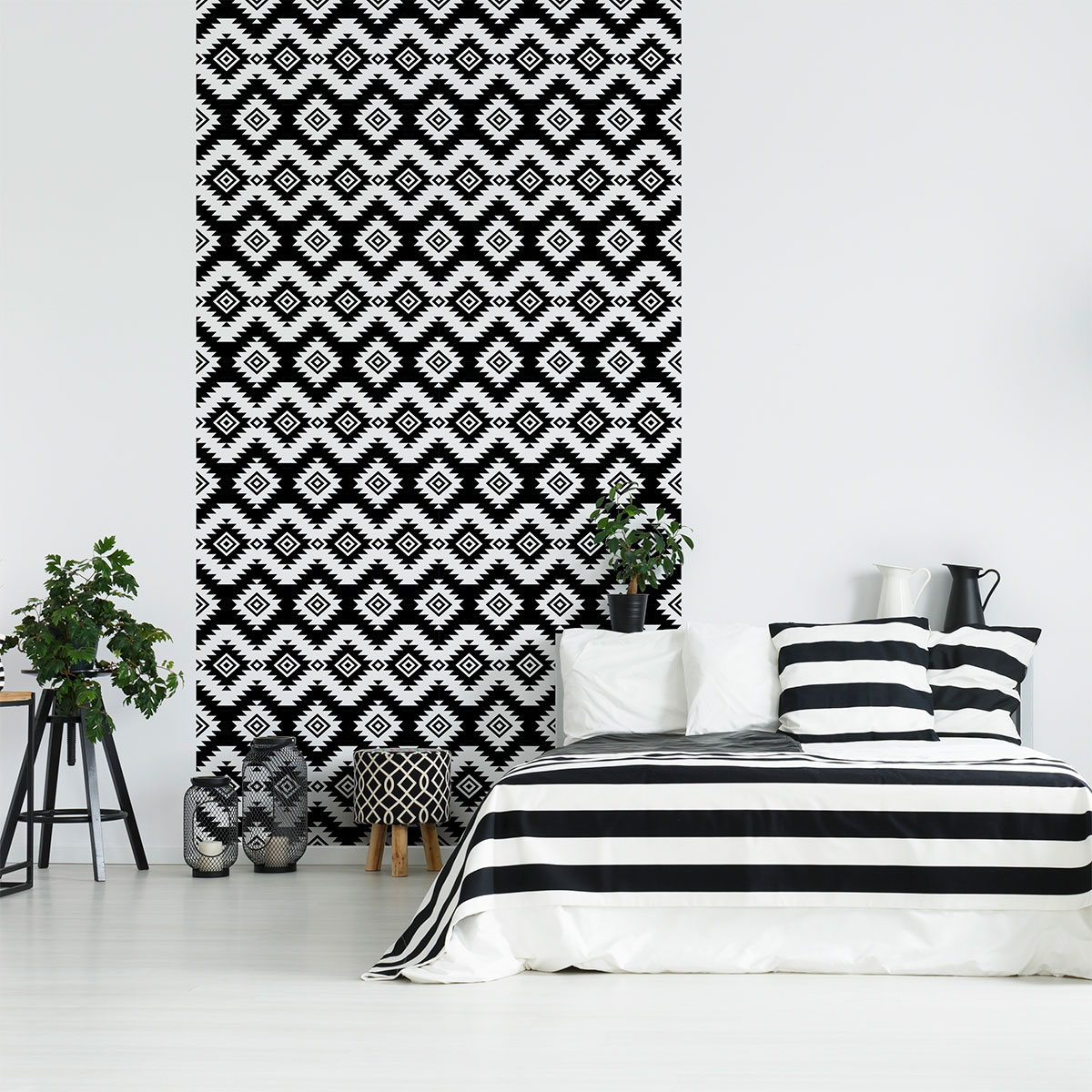 sticker papier peint scandinave jorgen salon design ambiance sticker. Black Bedroom Furniture Sets. Home Design Ideas