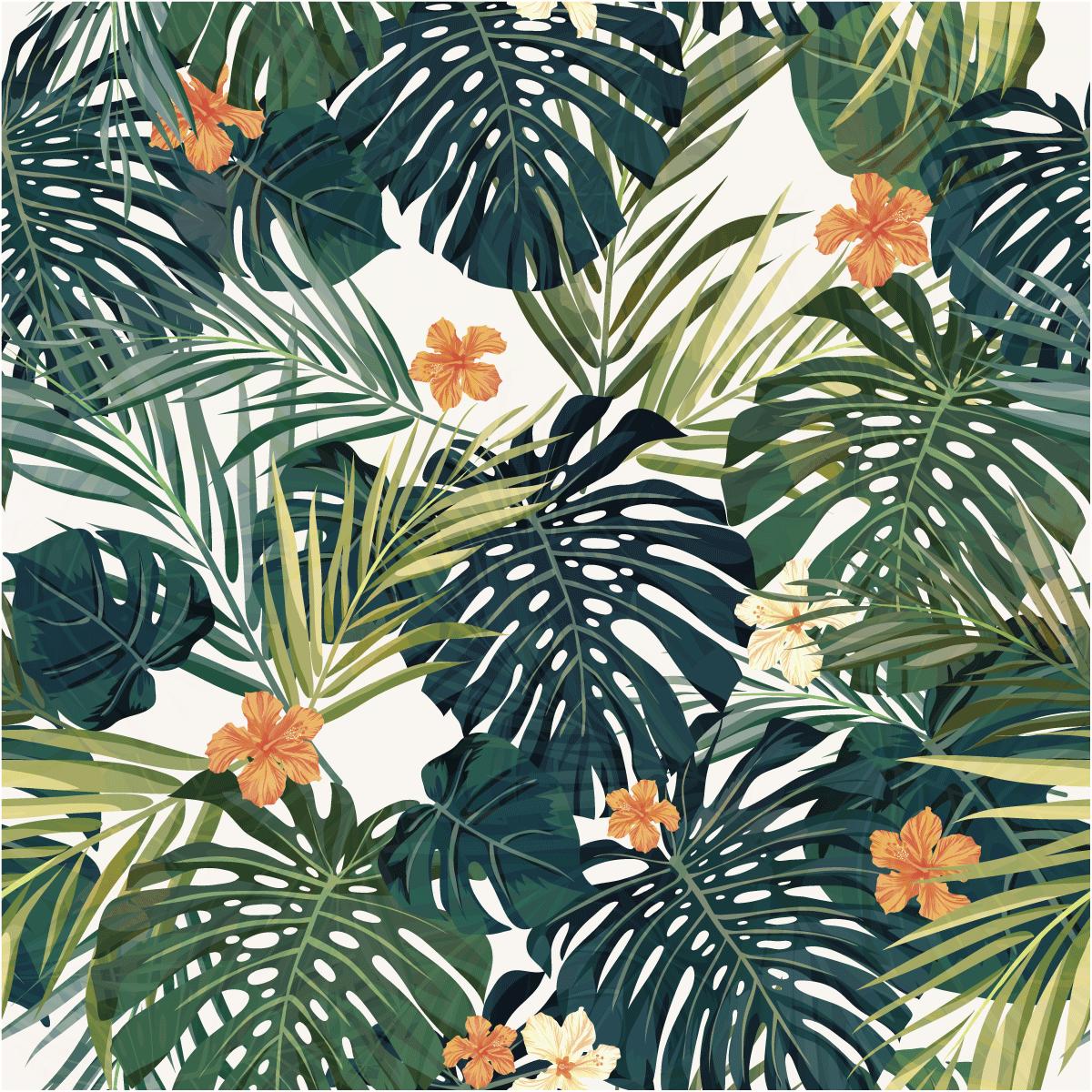 Sticker Papier Peint Tropical Arica Nature Fleurs Ambiance Sticker