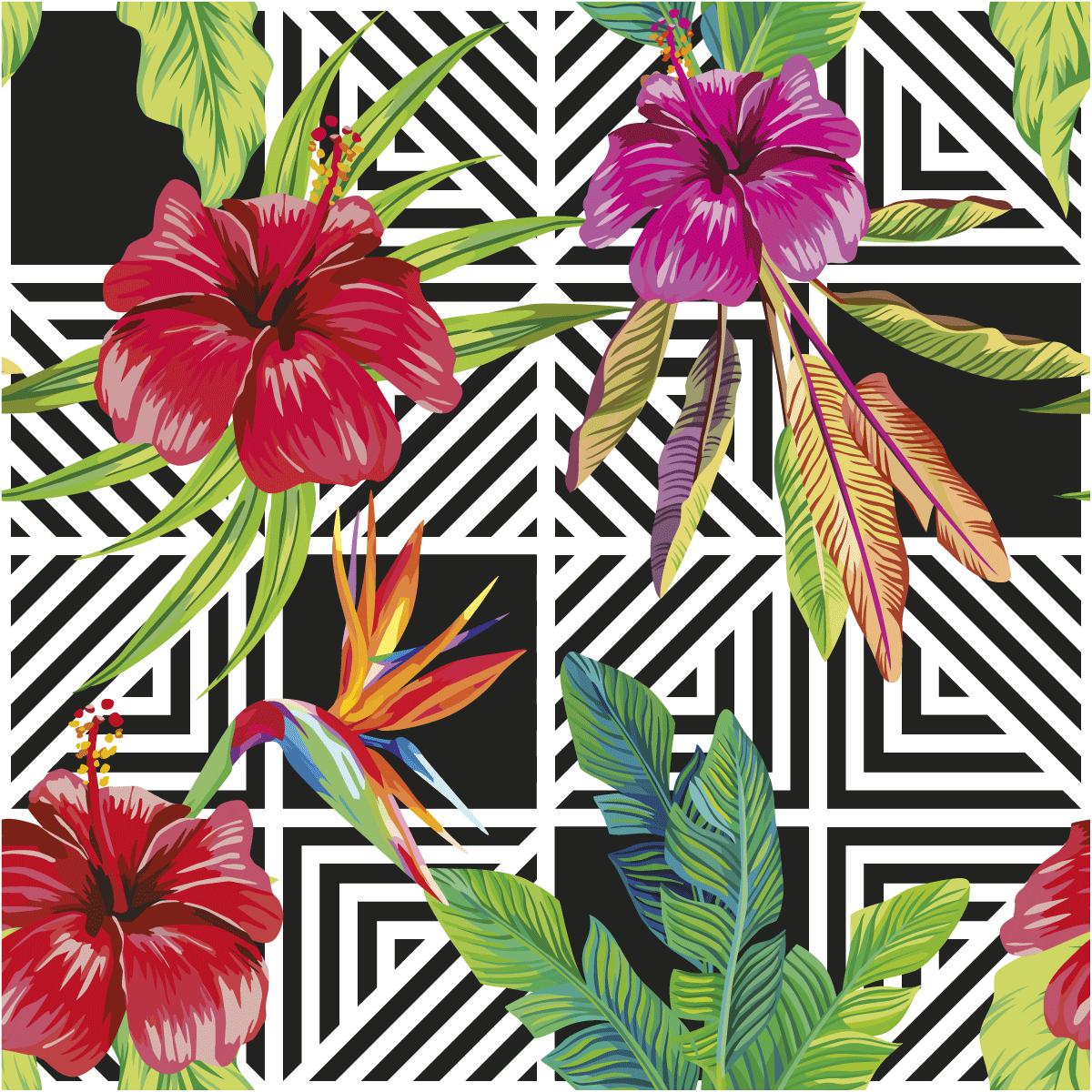 Sticker Papier Peint Tropical Grenada Nature Fleurs Ambiance Sticker