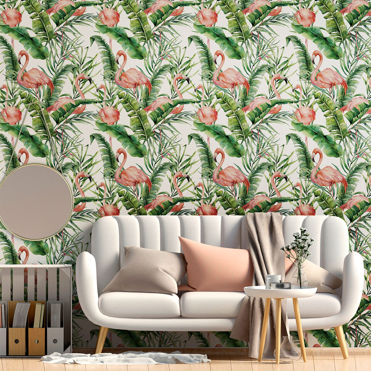 sticker papier peint tropical lima salon design ambiance sticker. Black Bedroom Furniture Sets. Home Design Ideas