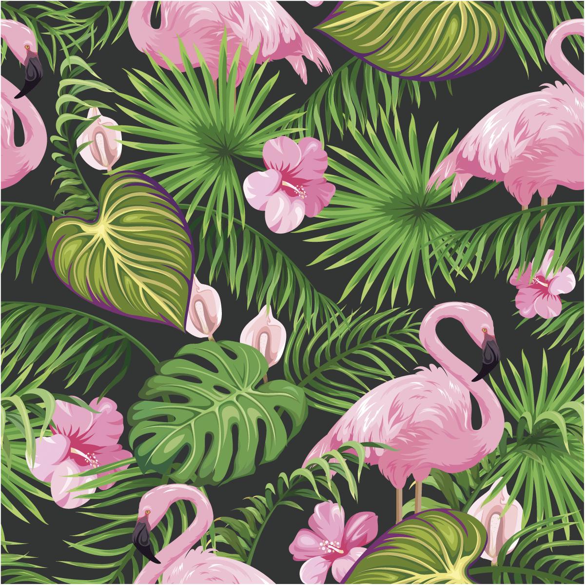 Sticker Papier Peint Tropical Sacaba Nature Fleurs Ambiance Sticker