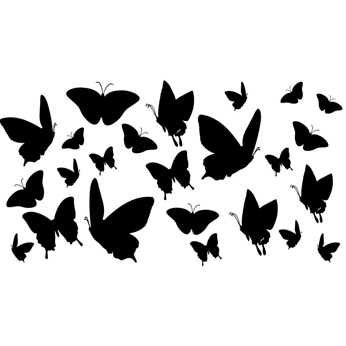 20 Autocollants de Fen/être de Papillons /Épais en Gel Autocollant de Fen/être de Printemps Amovible et R/éutilisable pour Enfants Tout-Petits Adultes D/écoration de Maison Avion Salle de Classe Garderie
