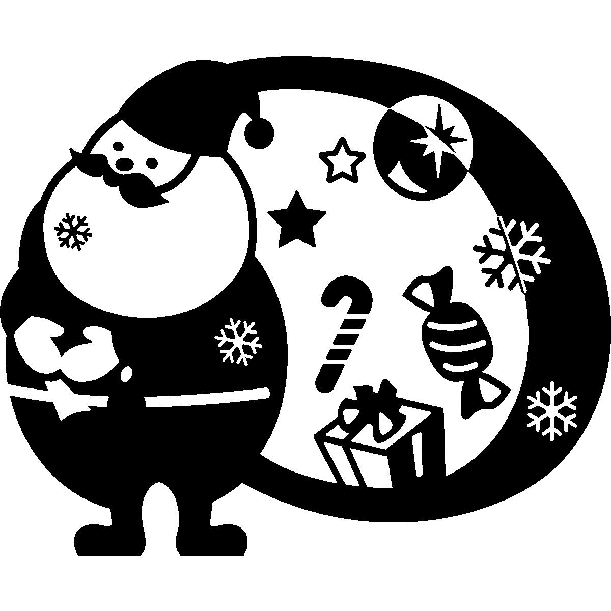 05063e3060 Stickers décoratifs pour Noël - Sticker Père Noël avec le sac - ambiance- sticker.