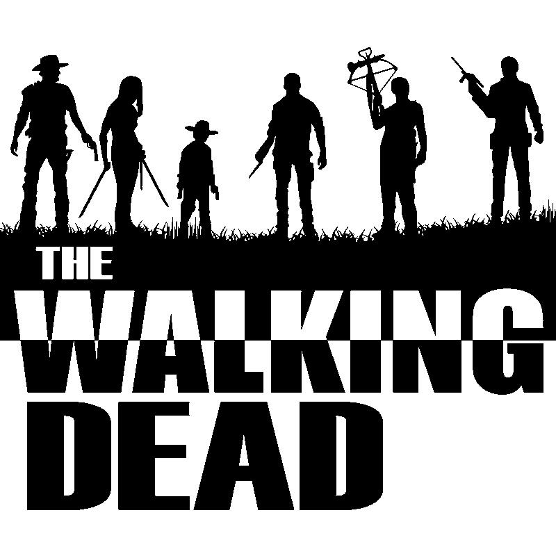 Sticker personnages de the walking dead stickers musique