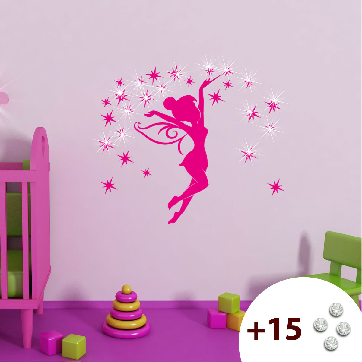 Stickers Muraux Pour Les Enfants Sticker Tinkerbell 1 Ambiance