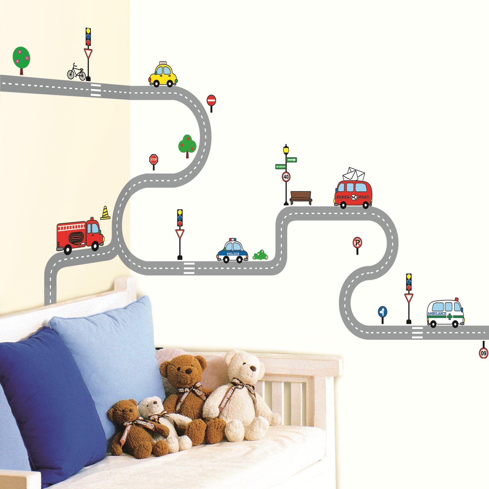 stickers muraux pour les enfants sticker petites voitures ambiance. Black Bedroom Furniture Sets. Home Design Ideas
