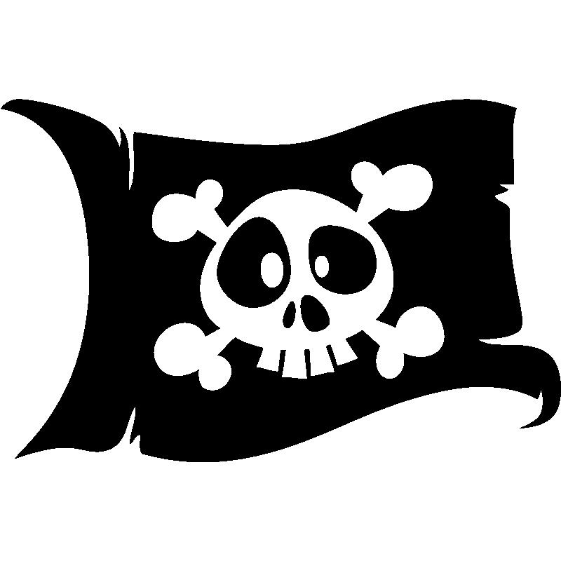 Sticker Pirate Le Drapeau De Tete De Mort Stickers Bebes Garcon