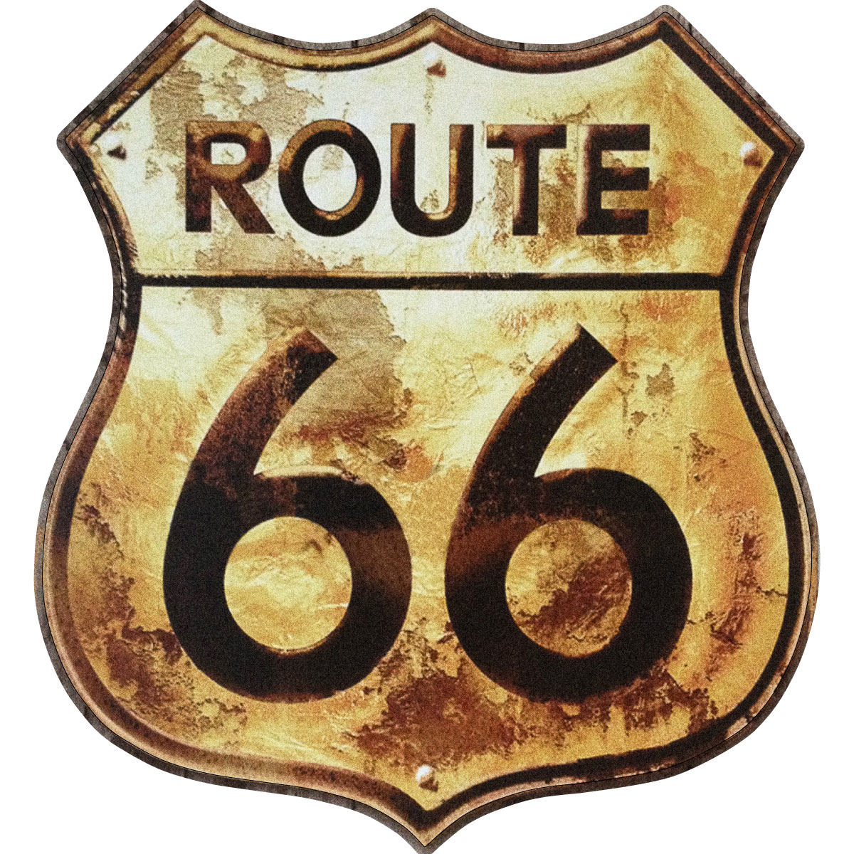 Stickers Muraux Animaux Sticker Plaque Route 66 Rouill 233