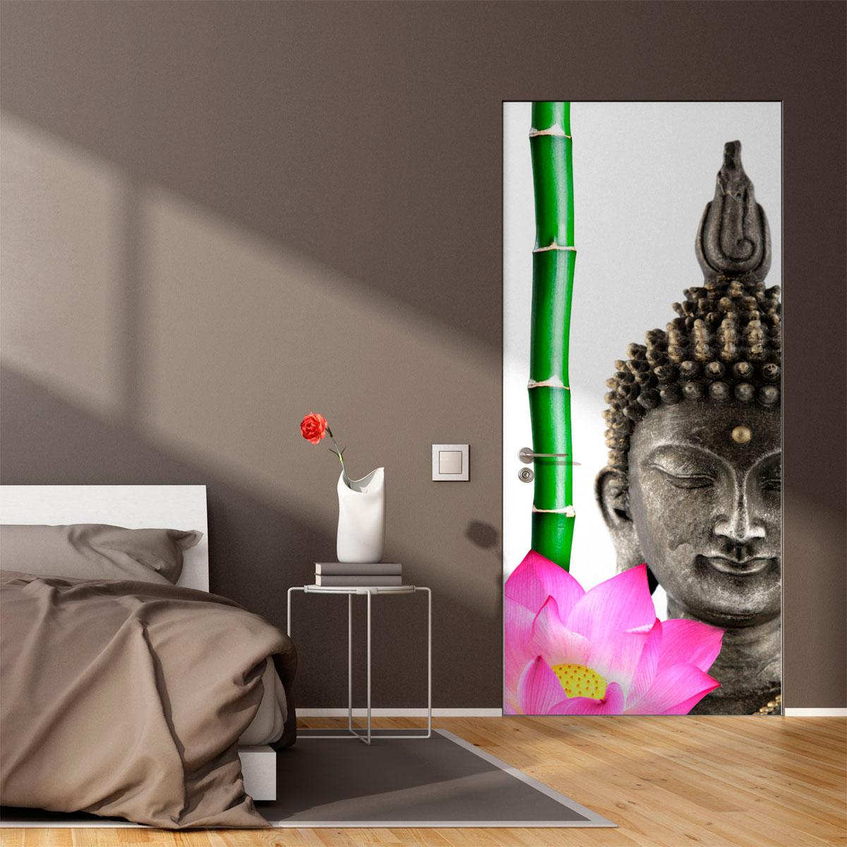 Sticker porte bouddha zen – Stickers STICKERS NATURE Fleurs