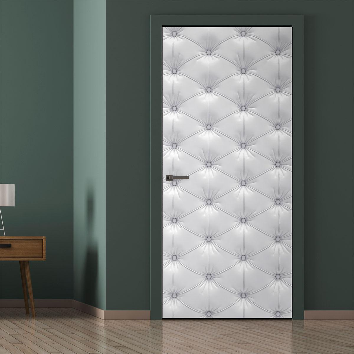 sticker porte capitonn e chesterfield blanc stickers. Black Bedroom Furniture Sets. Home Design Ideas