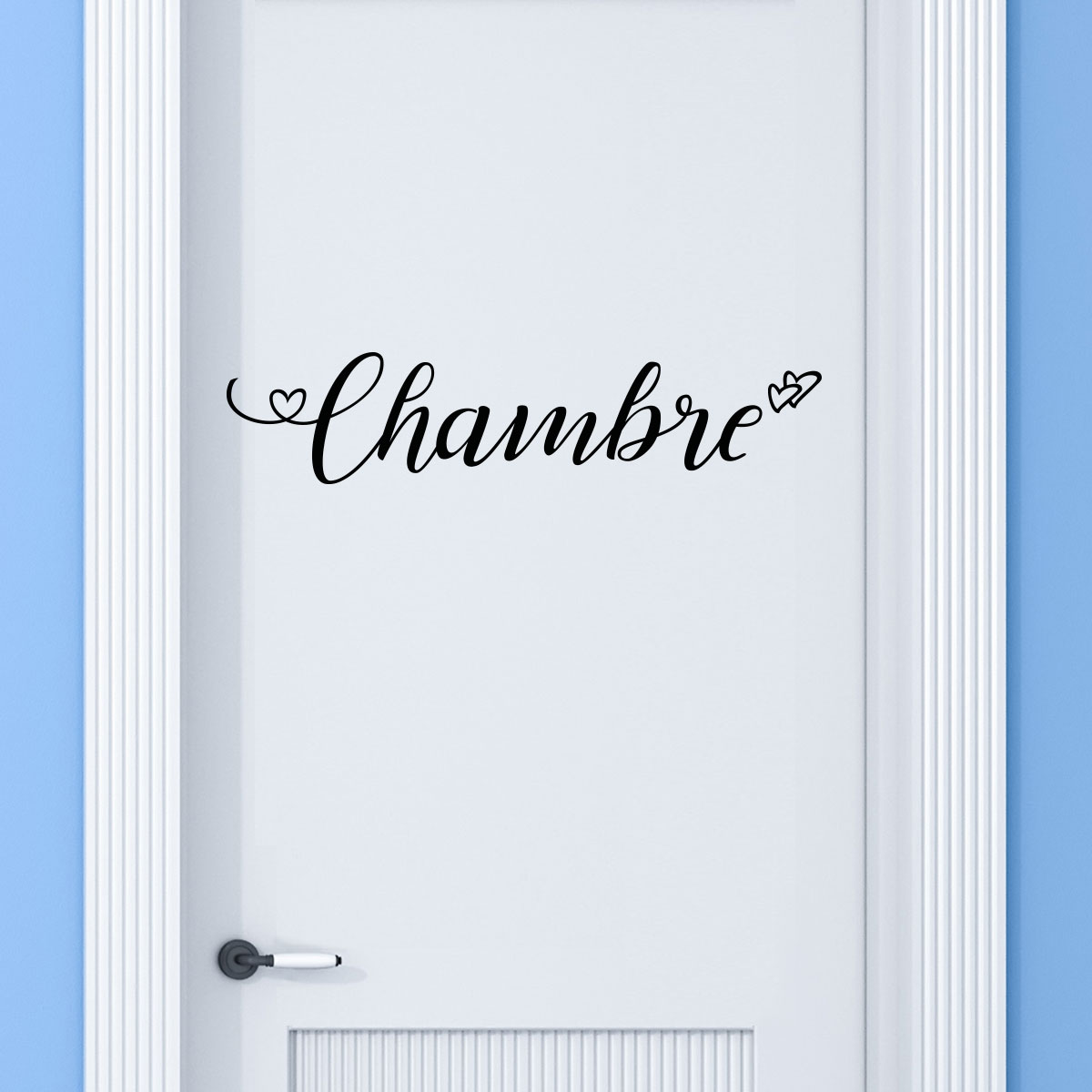 sticker porte chambre amoureuse stickers stickers f tes. Black Bedroom Furniture Sets. Home Design Ideas