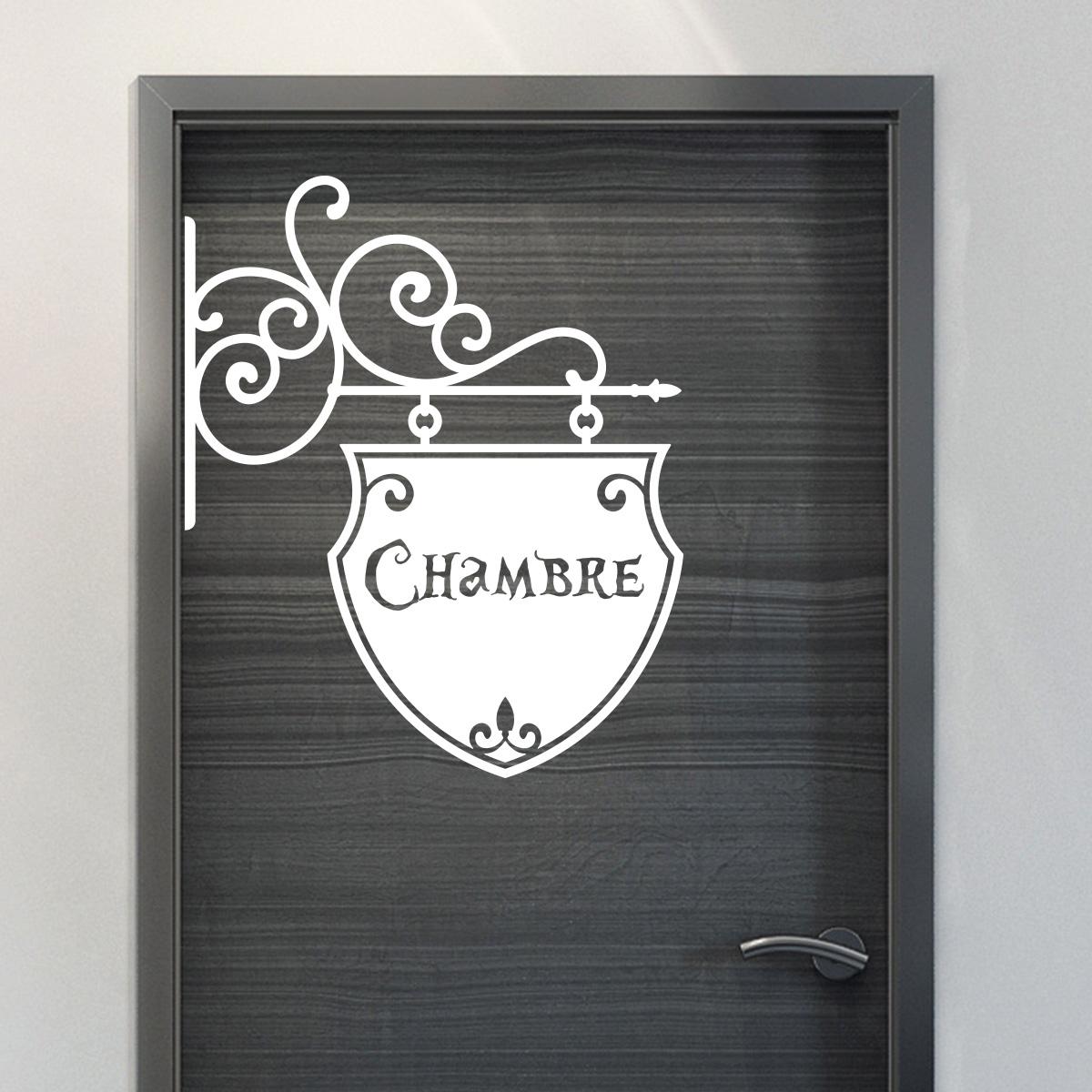 sticker porte chambre romantique stickers chambre ado. Black Bedroom Furniture Sets. Home Design Ideas
