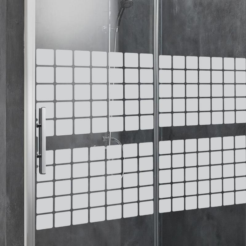 Stickers muraux pour portes de douche en mosaïque
