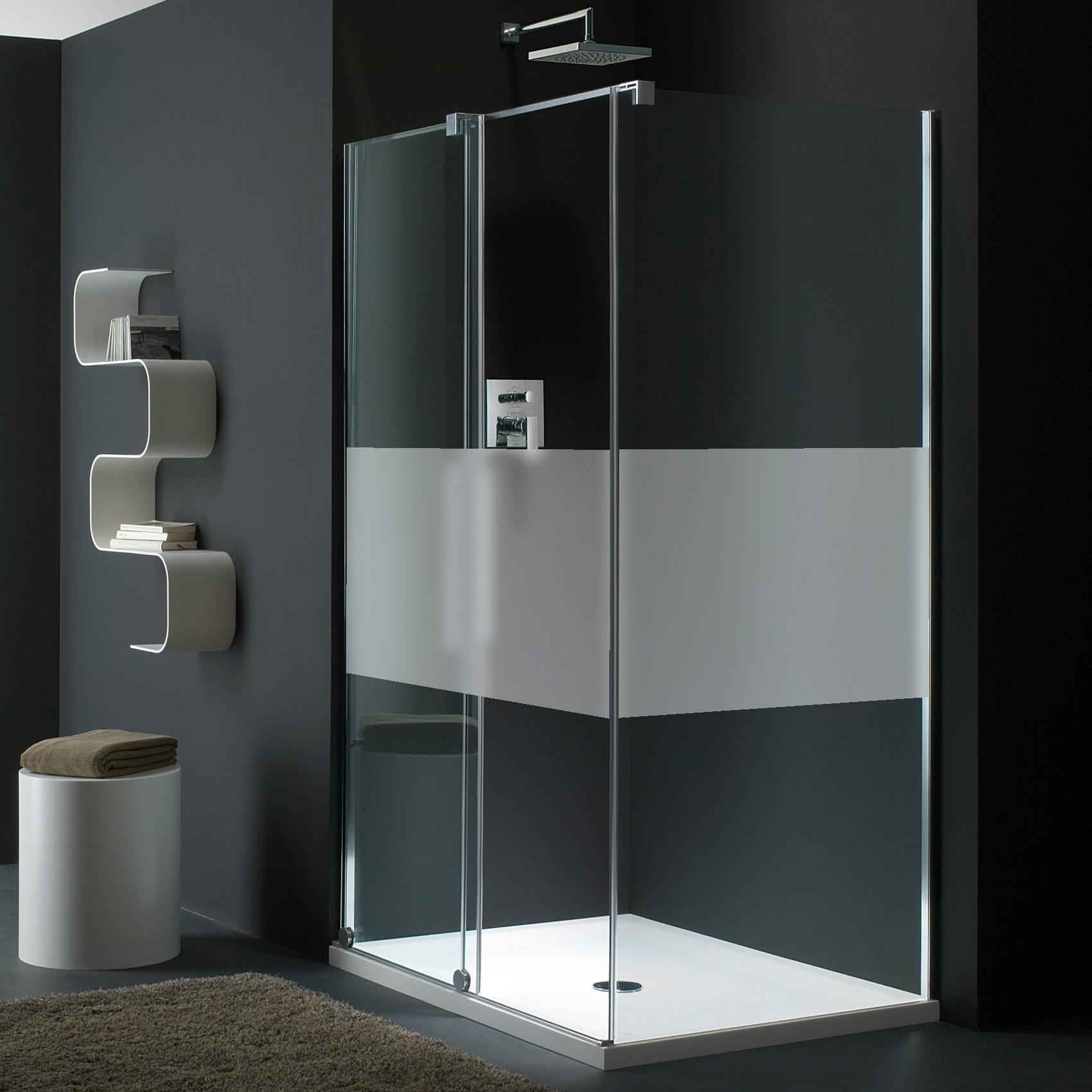 sticker porte de douche personnalisable bande unie stickers salle de bain porte de douche. Black Bedroom Furniture Sets. Home Design Ideas