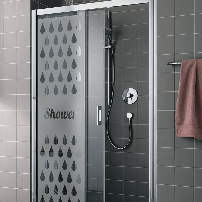 sticker porte de douche shower stickers art et design bandes verticales ambiance sticker. Black Bedroom Furniture Sets. Home Design Ideas