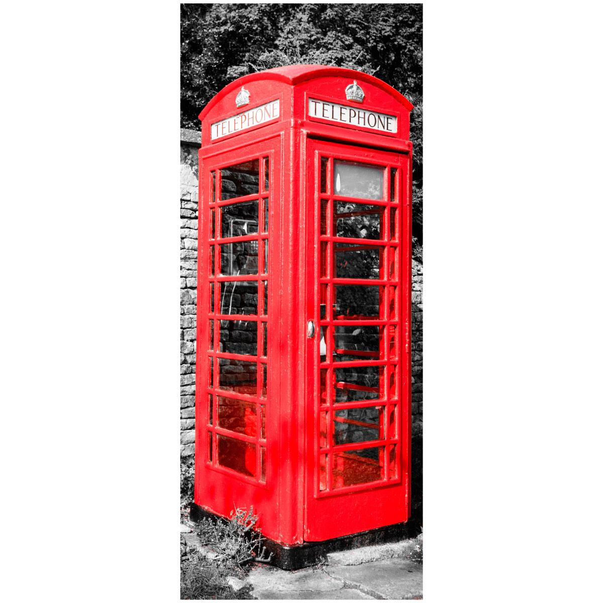 Sticker porte londres cabine t l phonique anglaise stickers stickers villes et voyages londres - Meuble cabine telephonique anglaise ...