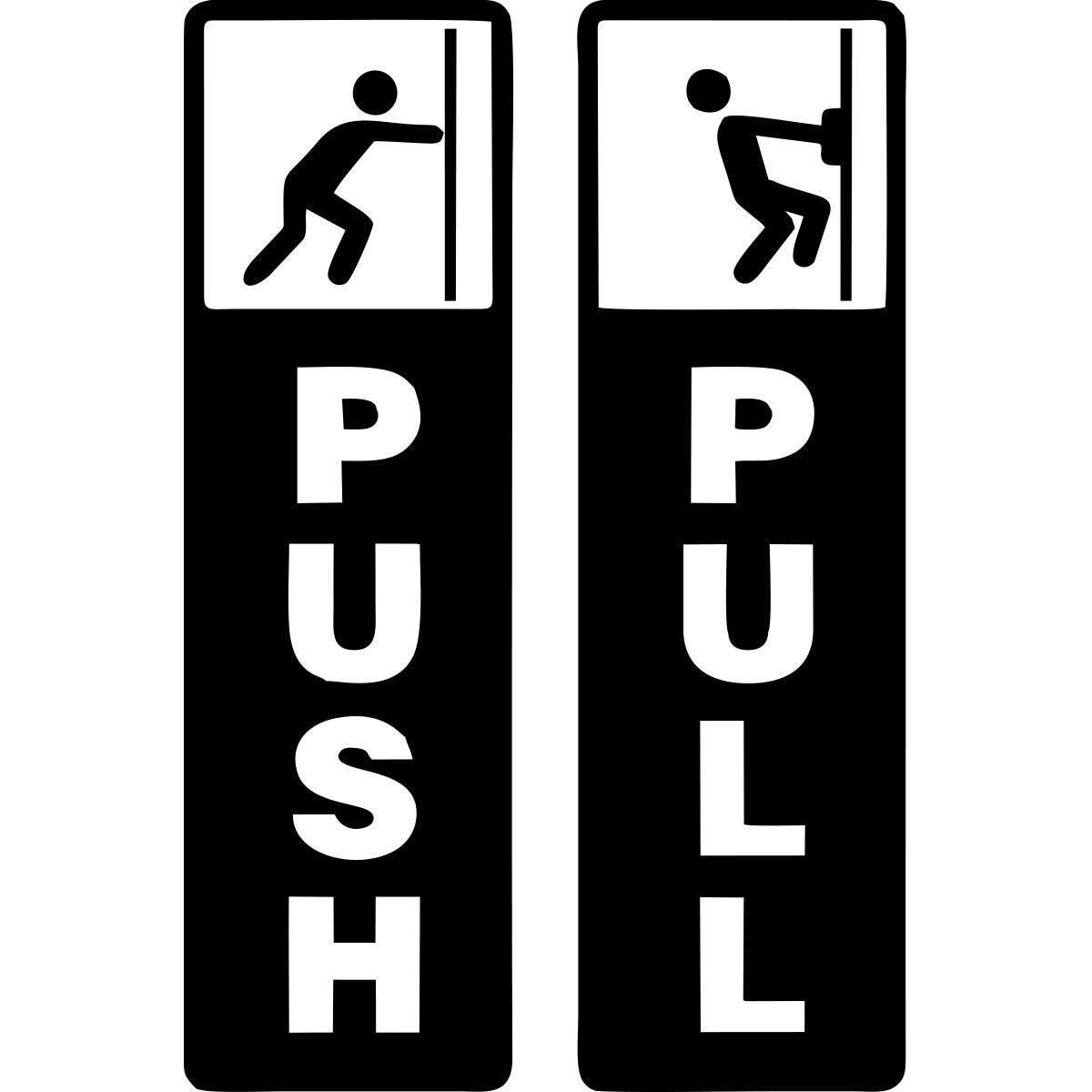 Frigo Cuisine : Sticker porte push pull stickers toilettes