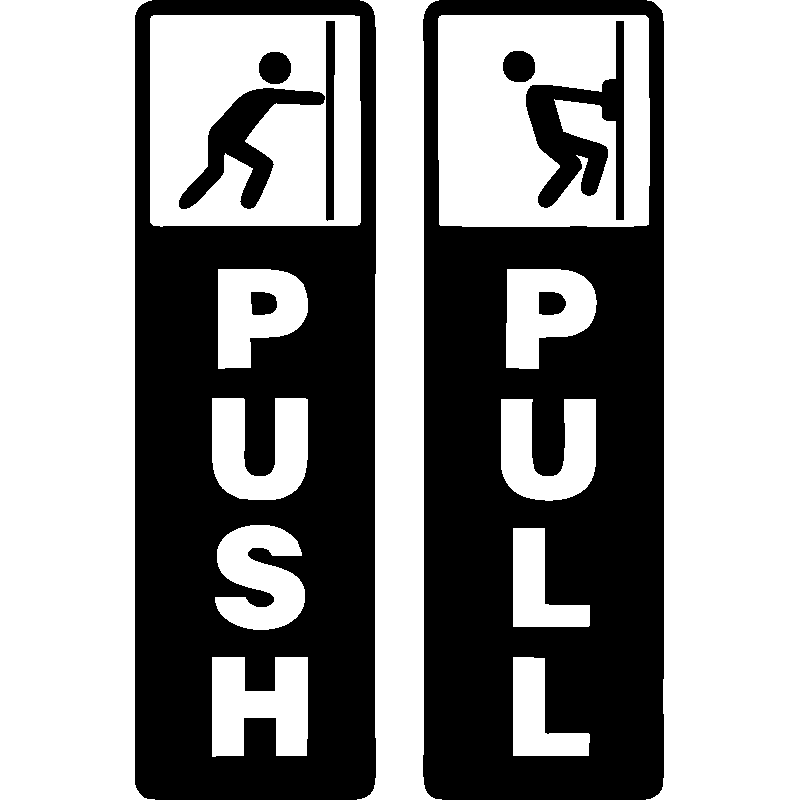 sticker porte push pull stickers toilettes porte ambiance sticker