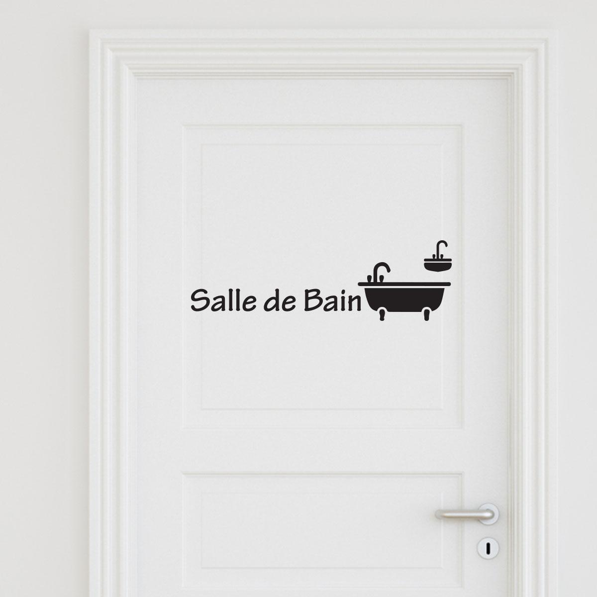 Sticker porte salle de bain 3 stickers stickers portes - Stickers pour carreaux salle de bain ...