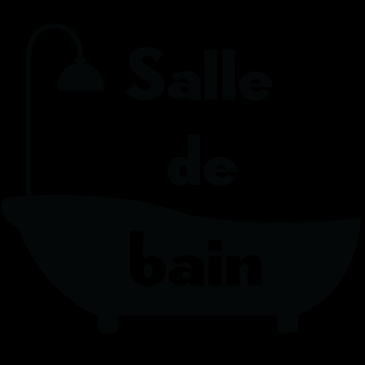 Sticker porte salle de bain baignoire stickers salle de bain et wc salle de bain ambiance - Stickers salle de bain ...