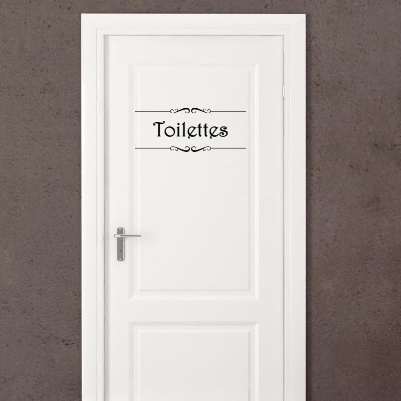 "Sticker Porte ""Salle De Bain"" Et ""Toilettes"" – Stickers"