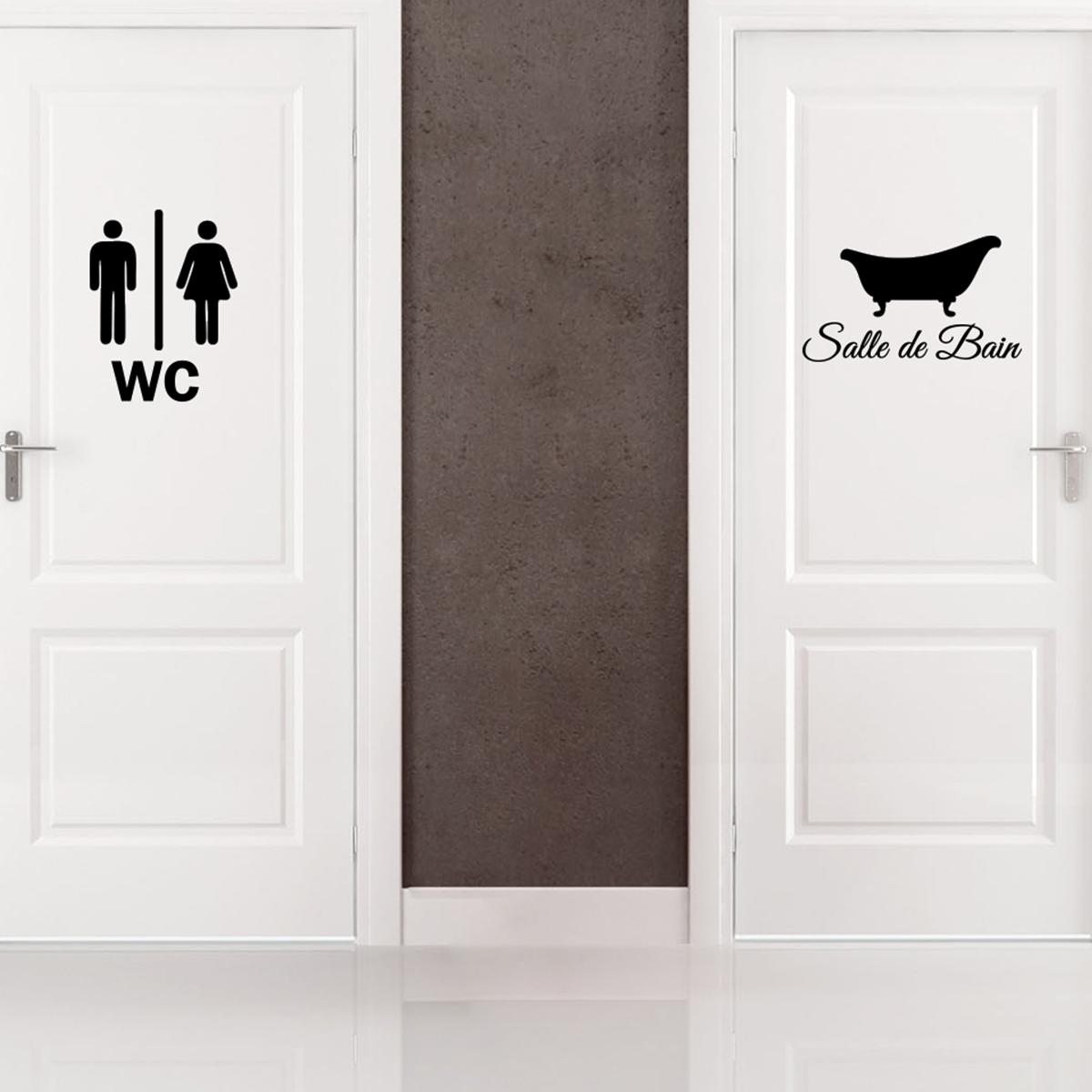 Porte Salle De Bain sticker porte salle de bain et wc