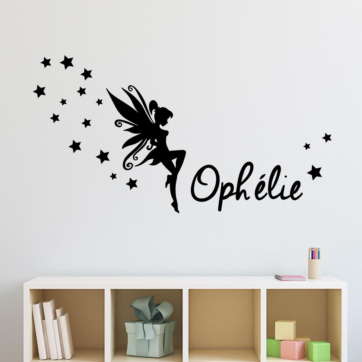 Papillons Autocollants Muraux Chambre à Coucher Art Papillon Autocollant stikers Nom Garçons Filles