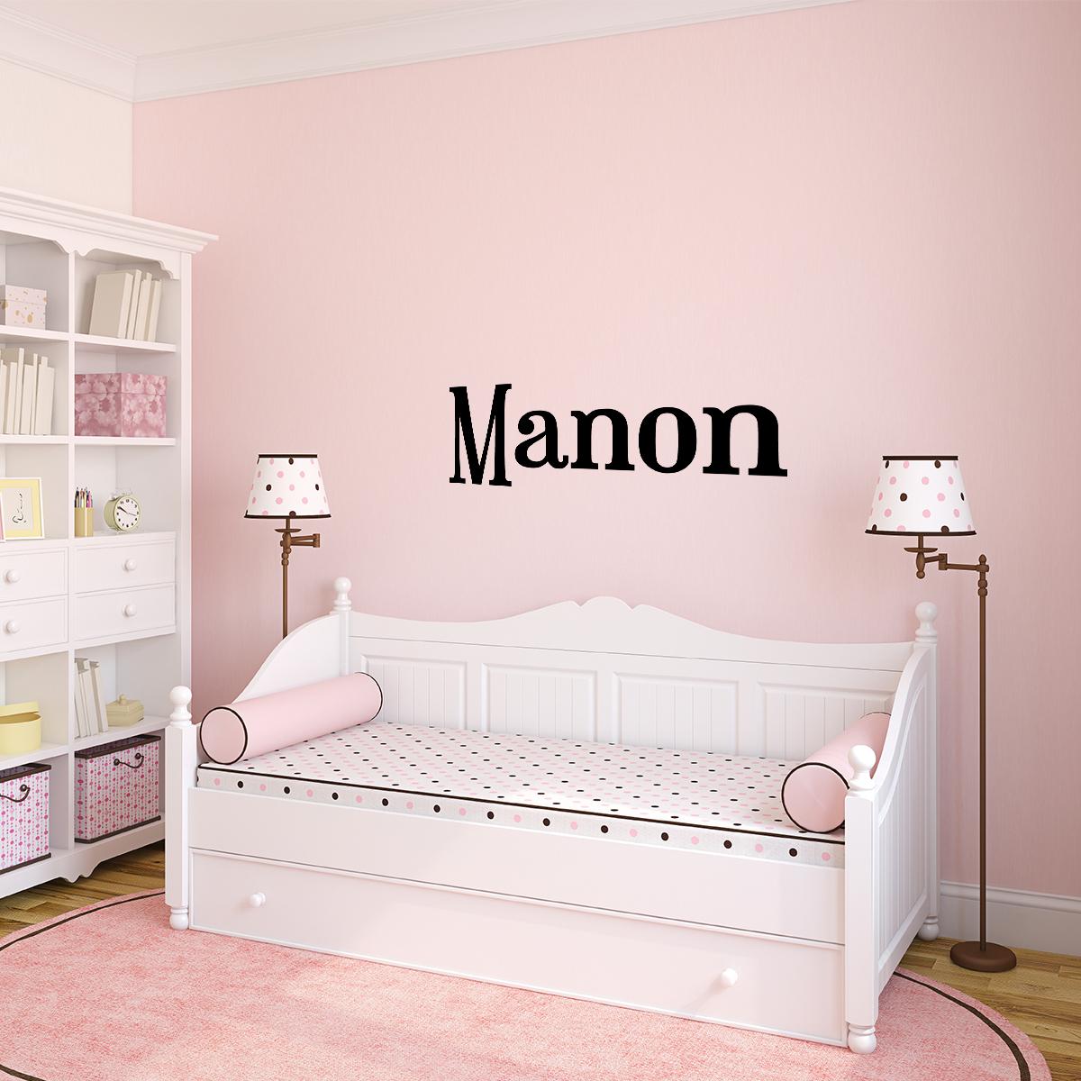 sticker pr nom personnalisable classique agr able. Black Bedroom Furniture Sets. Home Design Ideas
