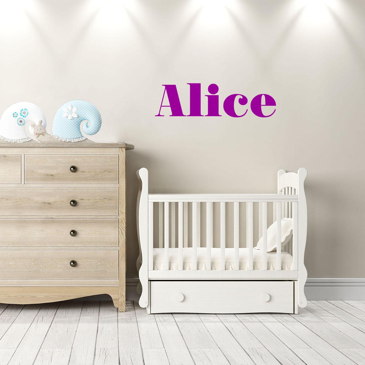 sticker pr nom personnalisable classique attachant. Black Bedroom Furniture Sets. Home Design Ideas