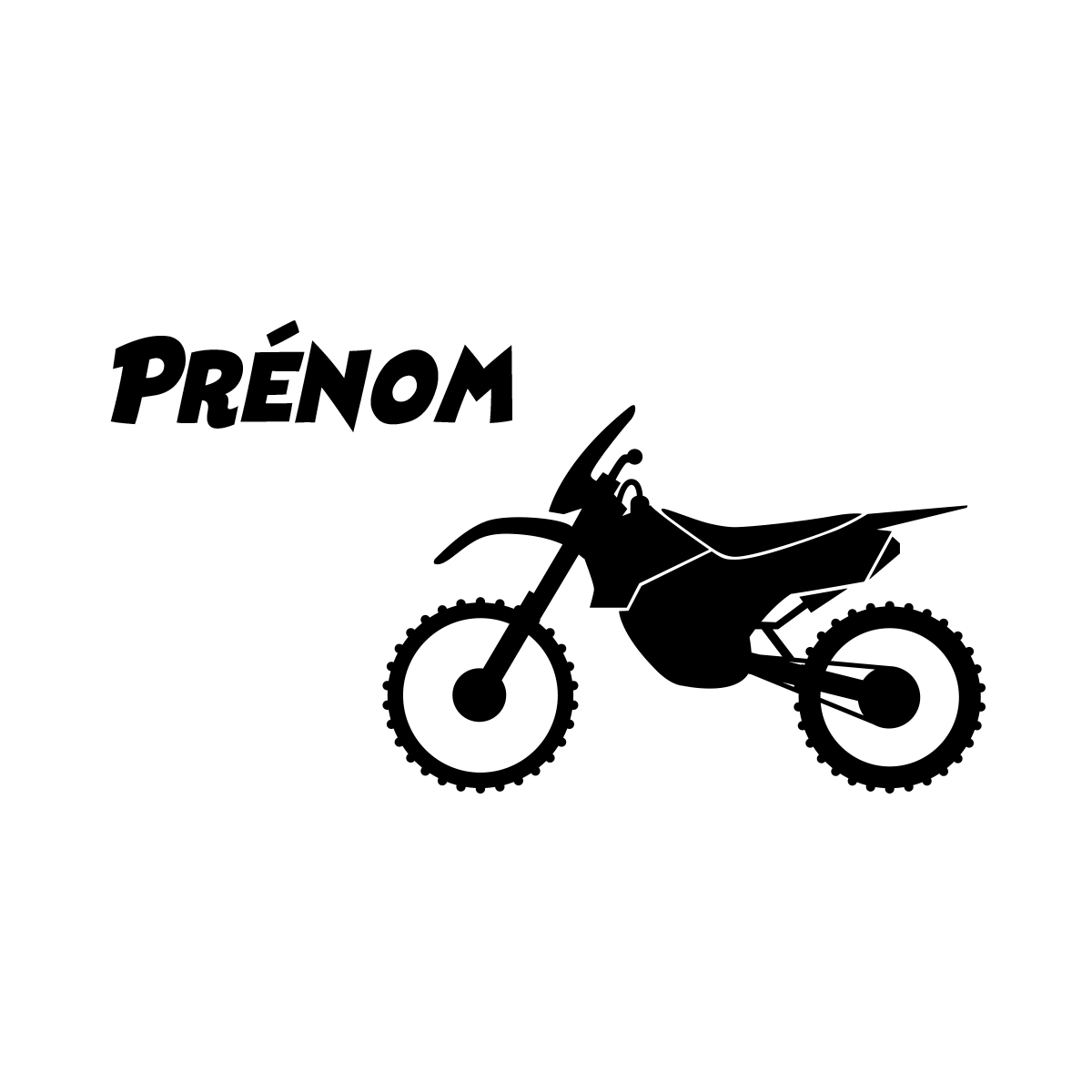 Stickers muraux prénom sticker prénom personnalisable et sa moto ambiance sticker com