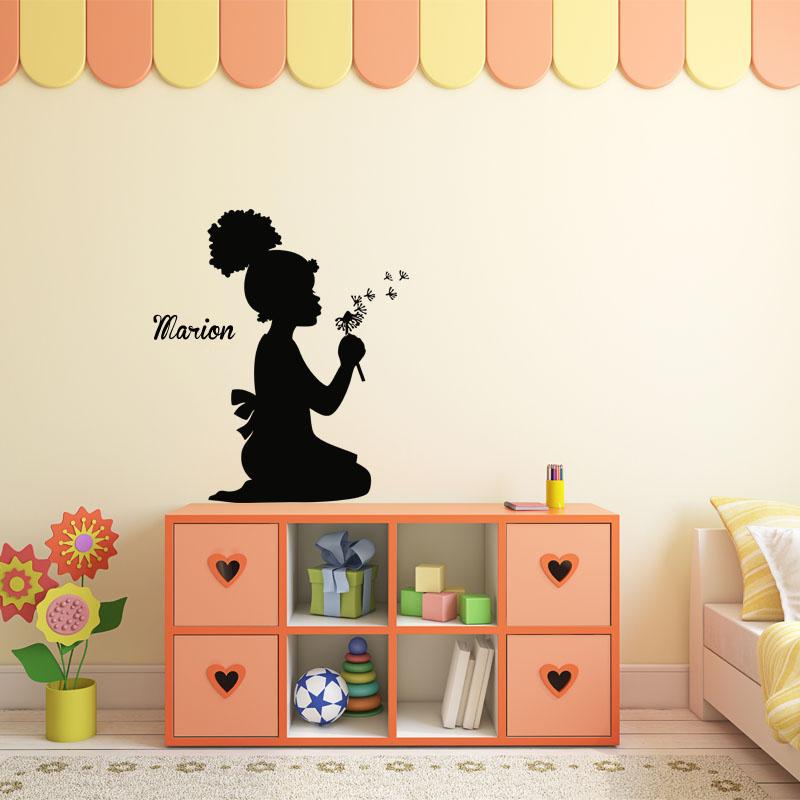 sticker pr nom personnalisable fais un v ux texte. Black Bedroom Furniture Sets. Home Design Ideas