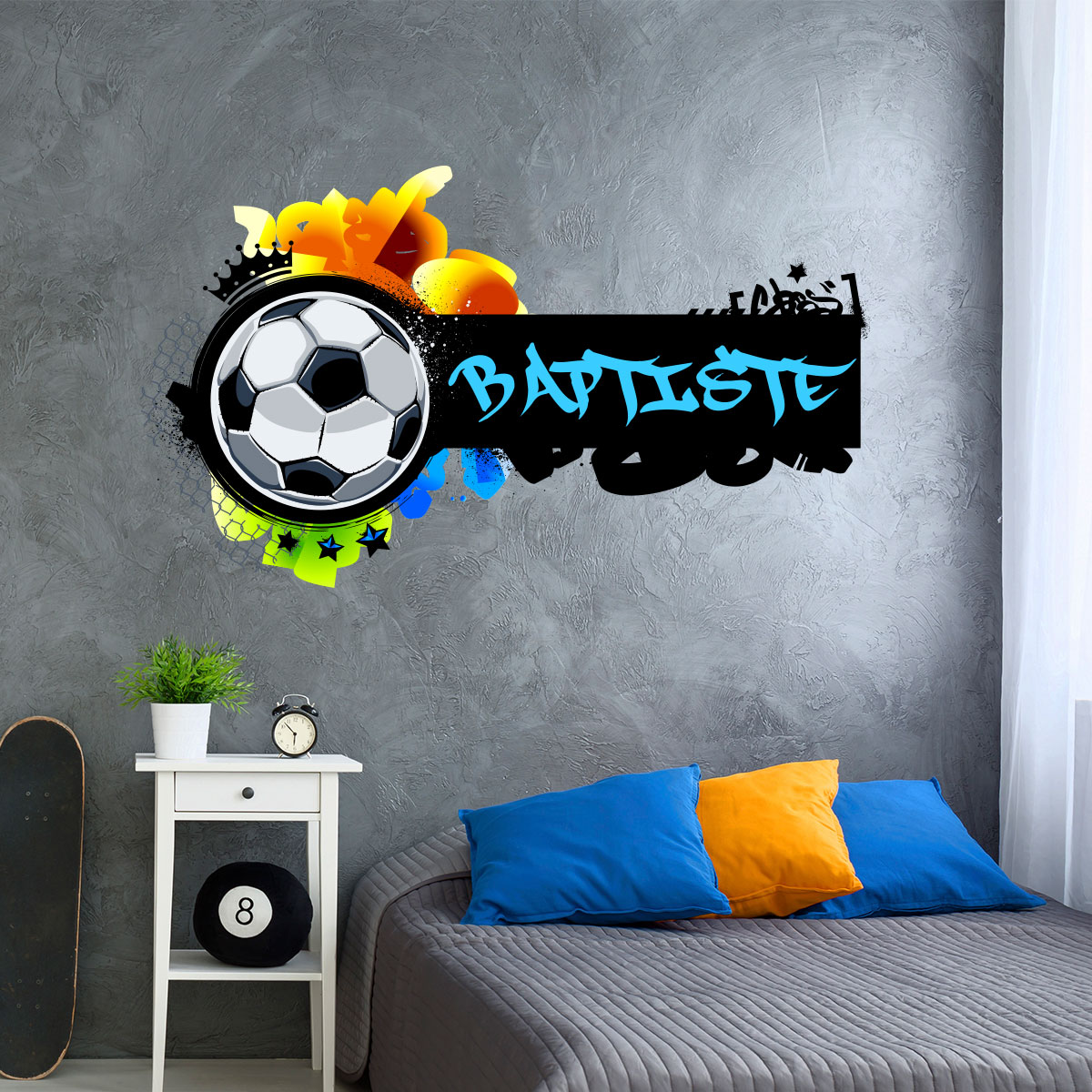 Sticker Prénom Personnalisable Football Graffiti Stickers Sports