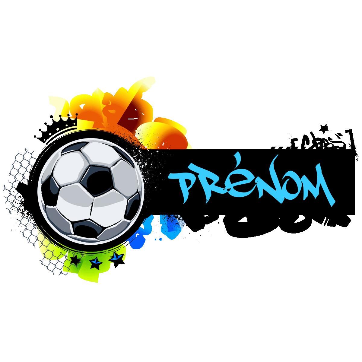 Sticker Prénom Personnalisable Football Graffiti