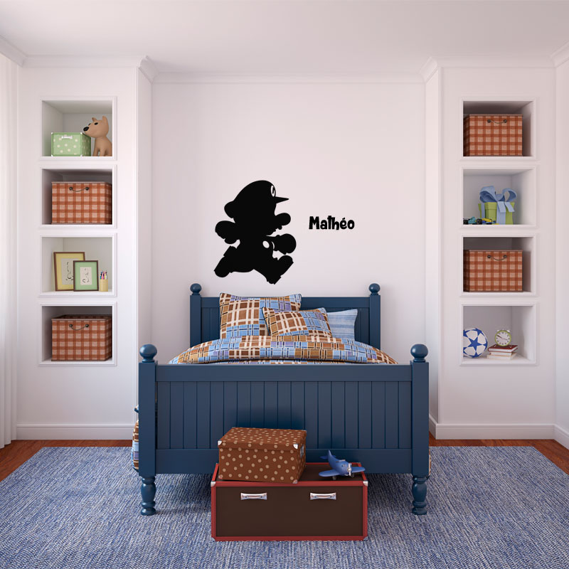 sticker pr nom personnalisable le plombier stickers. Black Bedroom Furniture Sets. Home Design Ideas