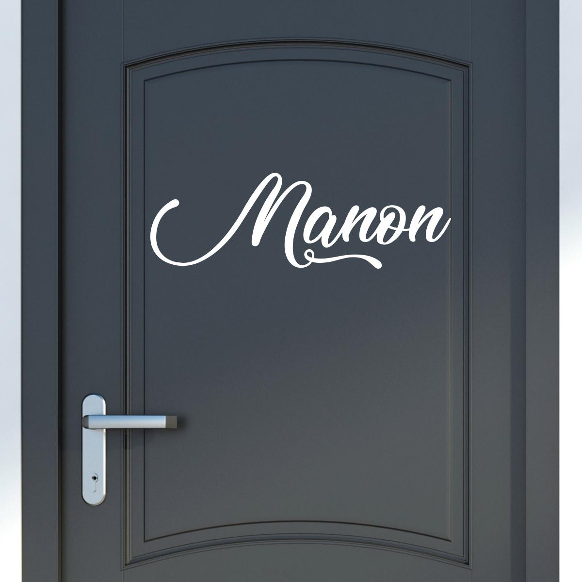sticker pr nom personnalisable manuscrit agr able. Black Bedroom Furniture Sets. Home Design Ideas