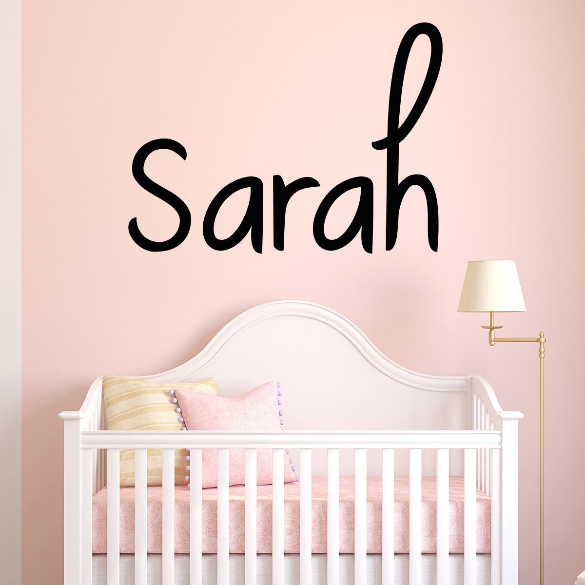 sticker pr nom personnalisable manuscrit parfait. Black Bedroom Furniture Sets. Home Design Ideas