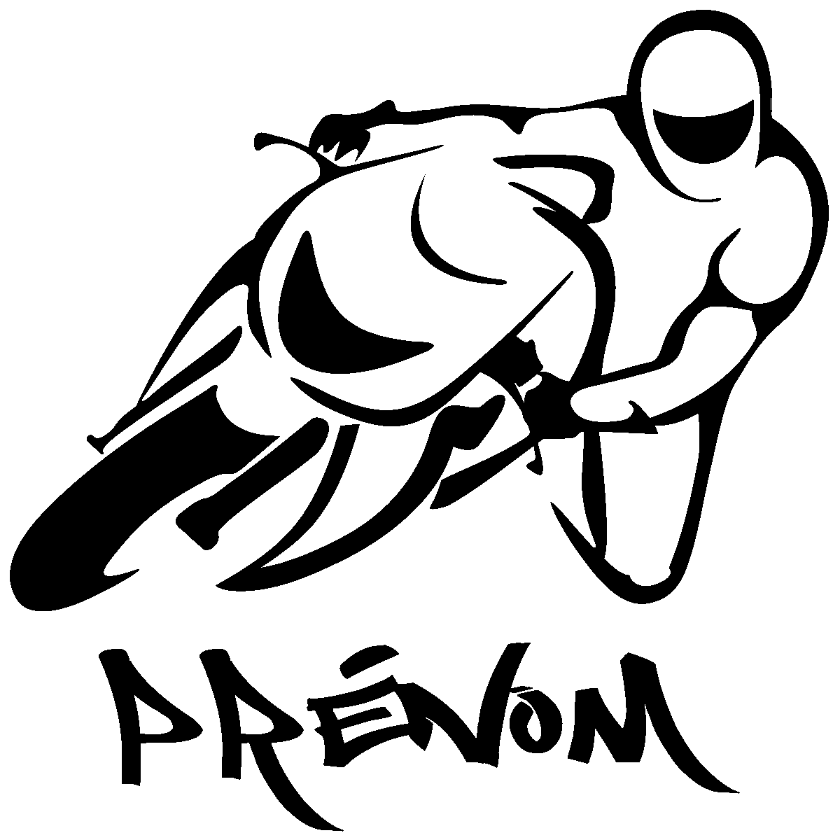 Stickers muraux prénom sticker prénom personnalisable moto de course ambiance sticker com