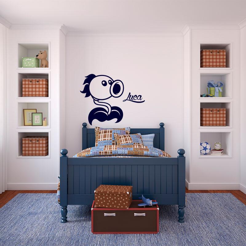 sticker pr nom personnalisable plante stickers stickers. Black Bedroom Furniture Sets. Home Design Ideas