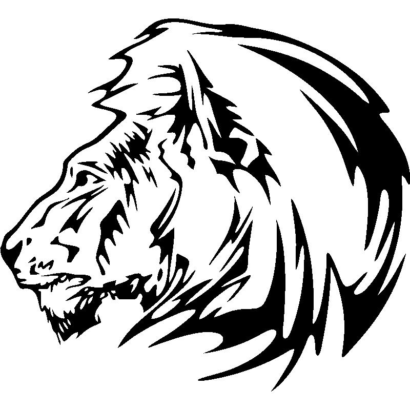 Sticker Profil Crinière De Lion
