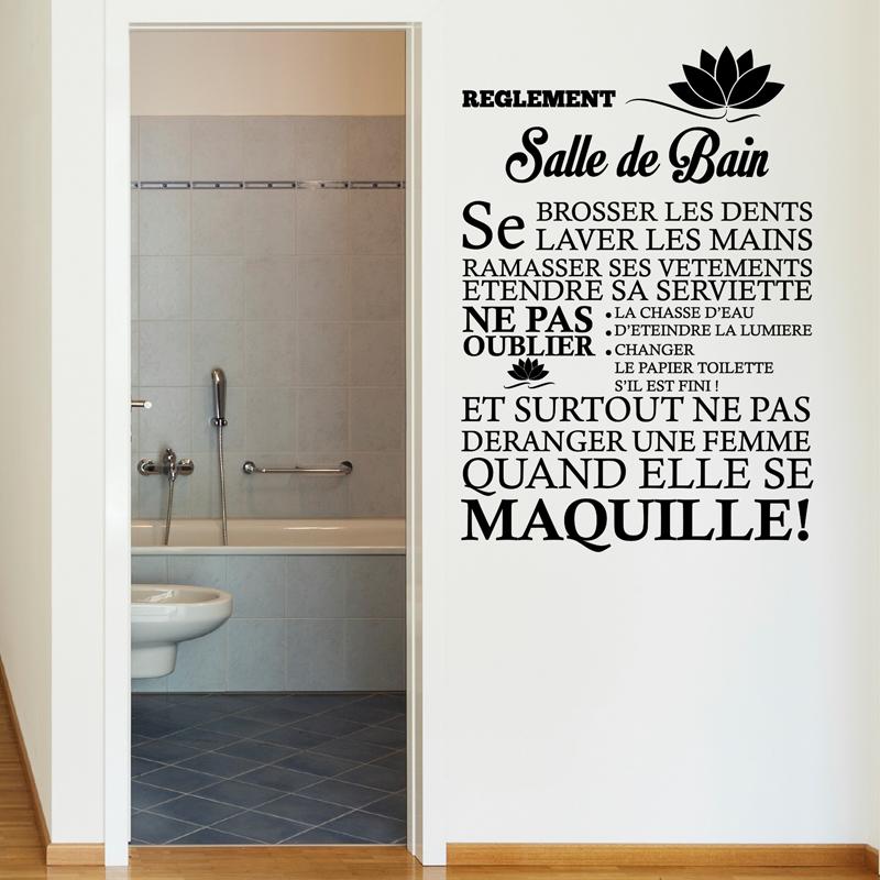 Sticker Règlement De La Salle De Bain – Stickers STICKERS