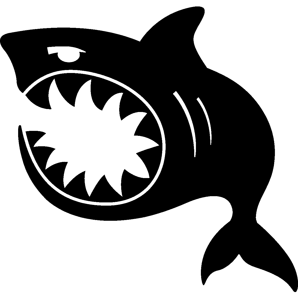sticker decal car laptop macbook kitchen room shark porthole kid funny fish door